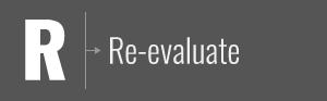 Re-evaluate